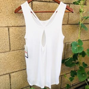GAIAM Gianna Cut-out Back Tank Top, Size Small